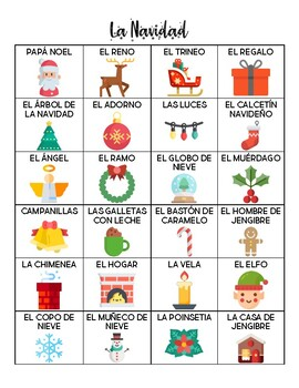 Spanish - Vocabulary - Christmas