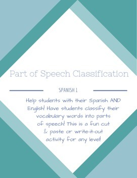 Spanish Vocabulary Classification: Parts of Speech
