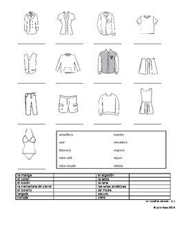 Spanish Vocabulary -- Clothing