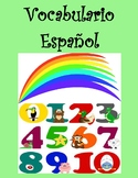 Spanish Vocabulary-Colors, Numbers and Animals as Handouts or With Word