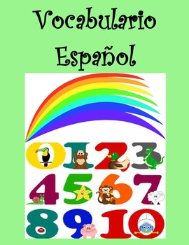 Spanish Vocabulary-Colors, Numbers and Animals as Handouts
