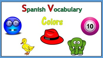 Spanish Vocabulary: Colors (PowerPoint)