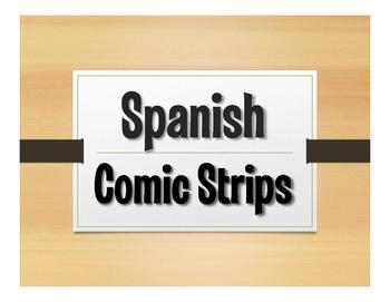 Spanish Vocabulary Comic Strip Templates