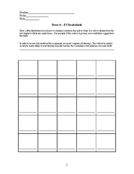 Spanish Vocabulary Drawing Activity
