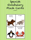 "Spanish Vocabulary Flash Cards (Animals) - 2.5"" by 3.3"" Medium"