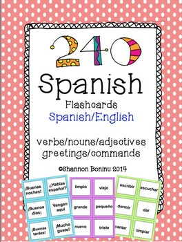 Spanish Vocabulary Flashcard Mega Pack