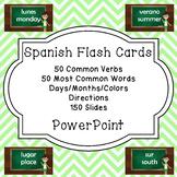 Spanish Vocabulary Flashcard PowerPoint Bundle