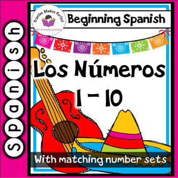 Free Spanish for Beginners Flashcards Numbers 1-10
