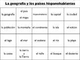 Spanish Vocabulary : Geography, Countries, Capitals, and N