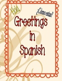 Spanish Vocabulary: Greetings.