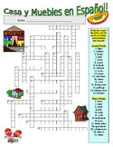 Spanish Vocabulary - HOME AND FURNITURE (2 Puzzles)