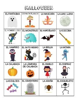 Spanish - Vocabulary - Halloween