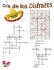 Spanish Vocabulary - Halloween (3 Puzzles)