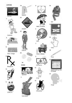 Spanish Vocabulary - Health Crossword Puzzle