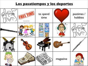 Spanish Vocabulary : Hobbies and Sports