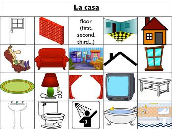 Spanish Vocabulary : House