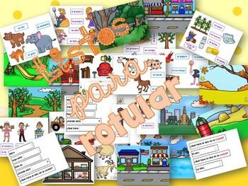 Spanish Vocabulary for Writing / EscrituraVocabulario interactivo para rotular