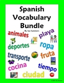 Spanish Vocabulary IDs Bundle of 40 Worksheets Totaling 720 Words!