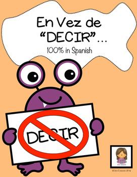 "Spanish Vocabulary ""Instead of Decir"" #felicesfiestas"