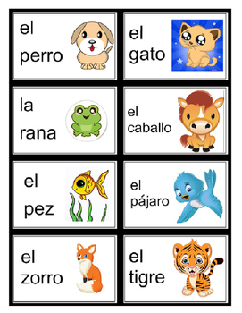 Spanish Vocabulary Living Things DLI