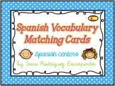 Spanish Vocabulary Matching Cards Game/ Juego de Vocabular