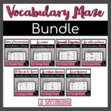 Spanish Vocabulary Maze Activity Bundle