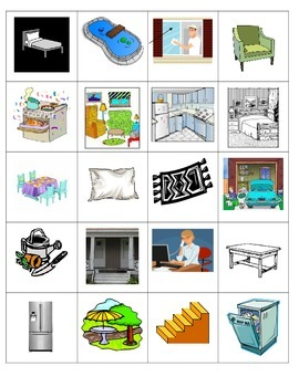 Spanish Vocabulary Memory Game (la casa)