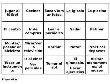 Spanish Vocabulary Memory Game (pasatiempos)