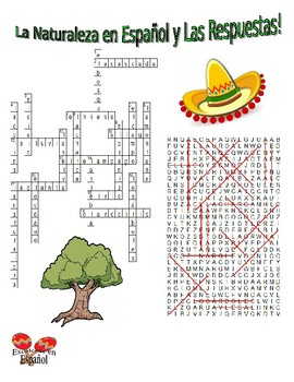 Spanish Vocabulary - NATURE (2 Puzzles)