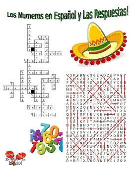 Spanish Vocabulary - NUMBERS (2 Puzzles)