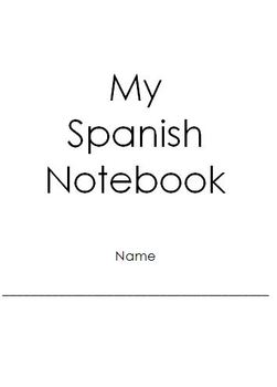 Spanish Vocabulary Notebook