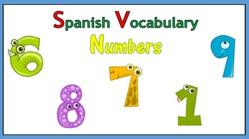 Spanish Vocabulary - Numbers (PowerPoint)
