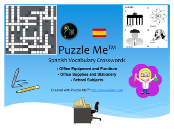 Spanish Vocabulary - Office Furniture and School Subjects