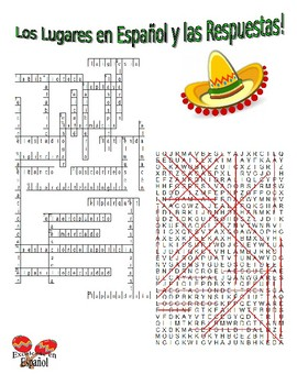 Spanish Vocabulary - PLACES (2 Puzzles)