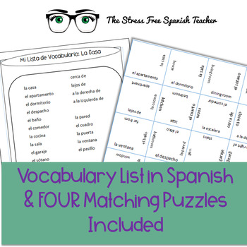 Spanish Vocabulary PUZZLE: Casa / Homes / Housing