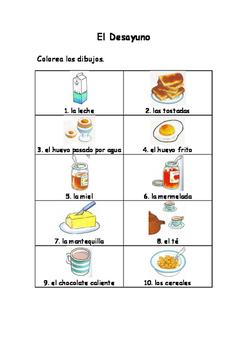 Spanish Vocabulary Pack - Breakfast