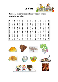 Spanish Vocabulary Pack - Dinner
