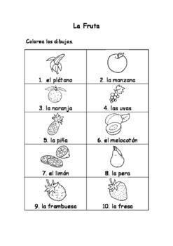 Spanish Vocabulary Pack - Fruit