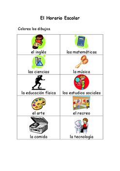 Spanish Vocabulary Pack - School Subjects