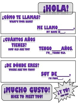 Spanish Vocabulary Package for Basic Conversation 1