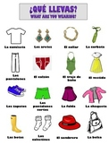 Spanish Vocabulary Package for Clothing