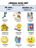 Spanish Vocabulary Package for Descriptive Adjectives