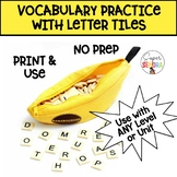 Spanish Vocabulary Practice with Bananagrams!
