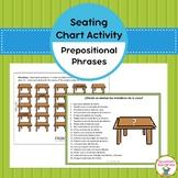 Spanish Vocabulary:  Prepositional Phrase Seating Chart Activity