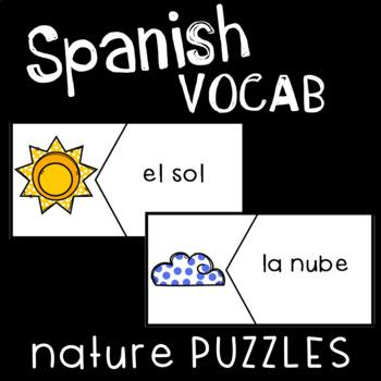 Spanish Vocabulary Puzzles: Nature!