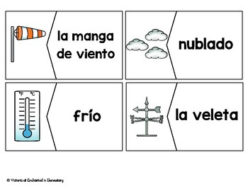 Spanish Vocabulary Puzzles: Weather Set