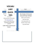 Spanish Vocabulary Quick Tips for Studying