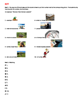 Spanish Vocabulary Quiz (Avancemos 2 U1L2)