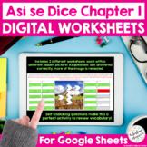 Spanish Vocabulary Review   Así se Dice Chapter 1 Digital Worksheets for Google