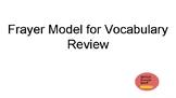 Spanish Vocabulary Review Frayer Model Graphic Organizer